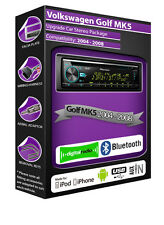 VW Golf MK5 DAB radio, Pioneer car stereo CD USB AUX player, Bluetooth kit