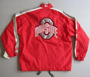 Vintage Ohio State University Starter Windbreakek Jacket Large Buckeye Deadstock