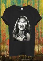 HAHA F*ck You Smile Girl Funny Cool Hipster Men Women Top Unisex T Shirt 1619