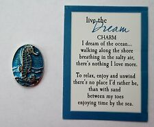 p RELAX Seahorse Horse By The Sea LIVE the DREAM Pocket Token Charm Ocean lover