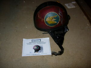 vintage motorcycle helmet signed by john surtess with coa