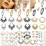 Surgical Steel Nose Ring Nose Lip Hoop Cartilage Tragus Helix Ear Piercing Rings