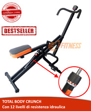 TOTAL FITNESS POWER BODY CRUNCH RESISTENZA IDRAULICA RICHIUDIBILE ALL IN ONE PRO