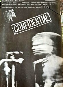 Confidential Punk Fanzine - Issue 1 1977. Ramones NY Dolls Heartbreakers T Heads