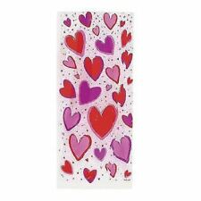 20 Hearts VIOLONCELLO SACCHETTI DI CELLOPHANE REGALO con legami VALENTINE Display Festa Favore