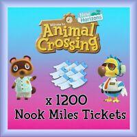 Animal Crossing New Horizons 1200 NMT 🎫 Nook Miles Ticket + 3 MILLION BELLS 🔔
