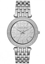 2018 New Michael Kors Darci Silver Monogram Dial MK3404 Women's Glitz Watch
