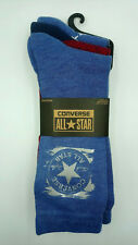 Converse Ladies Socks Trainer Liner 3 Pack Long Cut Black Quality Style J