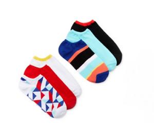 Hue Women's 6 Pack of Cotton No Show Liner Socks, Prism Pack