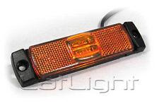 LED Seitenmarkierungsleuchte  Umrissleuchte-Reflektor 12V  24V Gelb / Orange