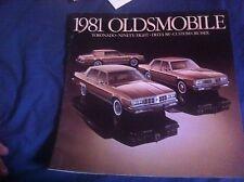 1981 Oldsmobile 88 98 and Toronado Original Color Brochure Prospekt