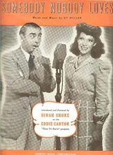 *EDDIE CANTOR RARE LARGE 1940 SHEET MUSIC*