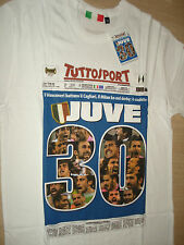 MAGLIETTA T-SHIRT JUVENTUS CAMPIONE D'ITALIA 2011-2012 SCUDETTO 30 TUTTOSPORT M