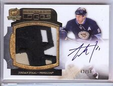 2011-12 THE CUP LIMITED LOGOS JORDAN STAAL AUTO 3 COLOR LOGO PATCH 42/50!!