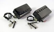 BLACK Humbucker Set Neck & Bridge Side Medium Output FREE US SHIP Great Stuff