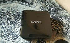 Lancome Black Small Cosmetic Hard Case Zipper Closure New