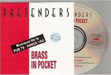 PRETENDERS brass in pocket CD PROMO france french card sleeve rover 100