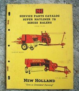 New Holland Service Parts Catalog Super Hayliner 78 Series Balers--->