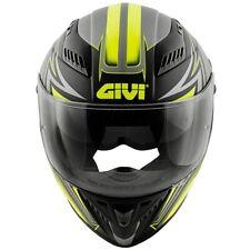 Casco Moto Integrale GIVI H40.5 x-fiber GP nero opaco grigio giallo taglia M