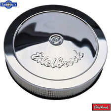"Edelbrock Pro-Flo Series Round Air Cleaner Chrome 14"" with 3"" Paper Element"