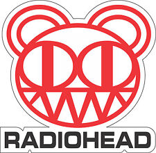"Radiohead Music bumper sticker, wall decor, vinyl decal, 5""x 5"""