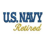 US NAVY USN Retired Embroidered Polo Shirt