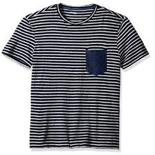 Calvin Klein Jeans Men's Stripe Cotton Denim-Pocket T-Shirt, Sze M, MSRP $39