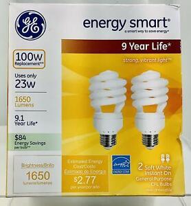 GE Energy Star 2 Bulb Pack Of Energy Smart 100 Watt Light Bulbs - 1650 Lumens