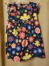 Child of Mine - Navy Blue Floral Dress / Diaper Cover (2 pc) Size 12M Ir15