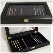 Cofanetto Elite per 15 Penne da collezione vetrinetta in legno Pen case Black