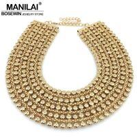 Necklace Collar Choker Bib Jewelry Chain Women Statement Pendant Chunky Charm
