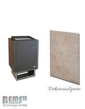 EOS Thermat Saunaofen Wandofen 4,5 KW bis9 KW + design Holzwand Sauna