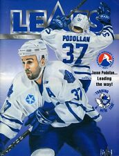 1998-99 ST. JOHNS MAPLE LEAFS Autographed Magazine by 13 Players