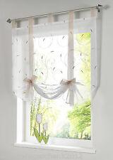 GS: Fenster Raffrollo Gardinen Vorhang Raffgardine Beige Lässig 80x140cm