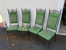 Set of four wrought iron chairs, Need reupholstering, but a nice set of frames,
