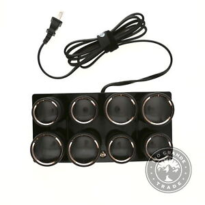 USED T3 73709 Volumizing Hot Rollers LUXE in Black - Set of 8 - 4 XL & 4 Large