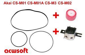 Riemen Belts / Bandandruckrolle Pinch Roller / Tapehead Akai CS-M01 CS-M3 CS-M02