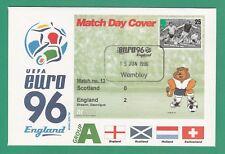 FOOTBALL  -   STAMP  COVER  ENVELOPE  FOR  EURO  96  -  MATCH  NO.  13  -  1996