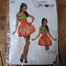 Smiffys Fever Sexy Pumpkin Costume w Dress Head Band Tights Women's M UK 12 - 14