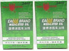 Eagle Brand Medicated Oil 鷹標德國風油精 Pain Relief Dau Xanh Con O 24ml x 2