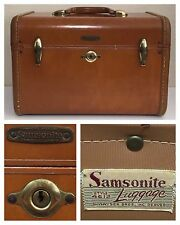 Shwayder Bros Vintage Samsonite Luggage 4612 Train Case Makeup Case Steam Trunk