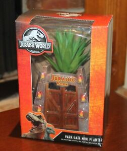 JURASSIC PARK GATE MINI SUCCULENT PLANTER - NEW!