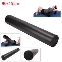 90CM Yoga Foam Roller Pilates Exercise Fitness Physio Gym Massage Rehab Injury