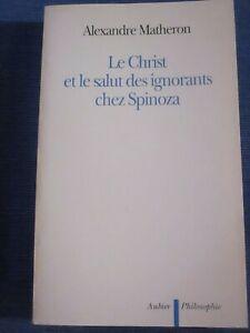 MATHERON / Le Christ et le salut des ignorants chez Spinoza