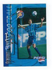 Rara Pepsi Cola 1997 Tailandia tarjeta de fútbol Paulo Maldini Ac Milan Italia