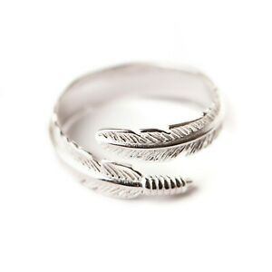TinkerBoo™ Sterling 925 Silver Adjustable Angel Feather Ring