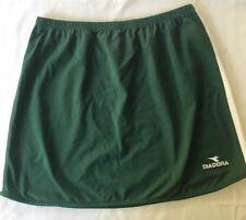 Diadora Tennis Womens Skirt Size Small Ladies DiaDry Green White Side Stipes
