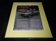 1978 Plymouth Arrow 11x14 Framed ORIGINAL Vintage Advertisement