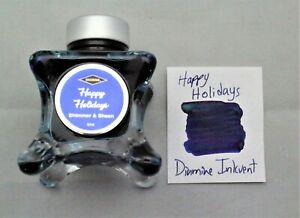 Diamine 50 ml Blue Edition Fountain Pen Bottled Ink Inkvent Happy Holidays