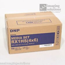 "DNP RX1HS (4""x6"") Media Set for Dye Sub printer RX1 2 pack for 1400 4x6 photos"